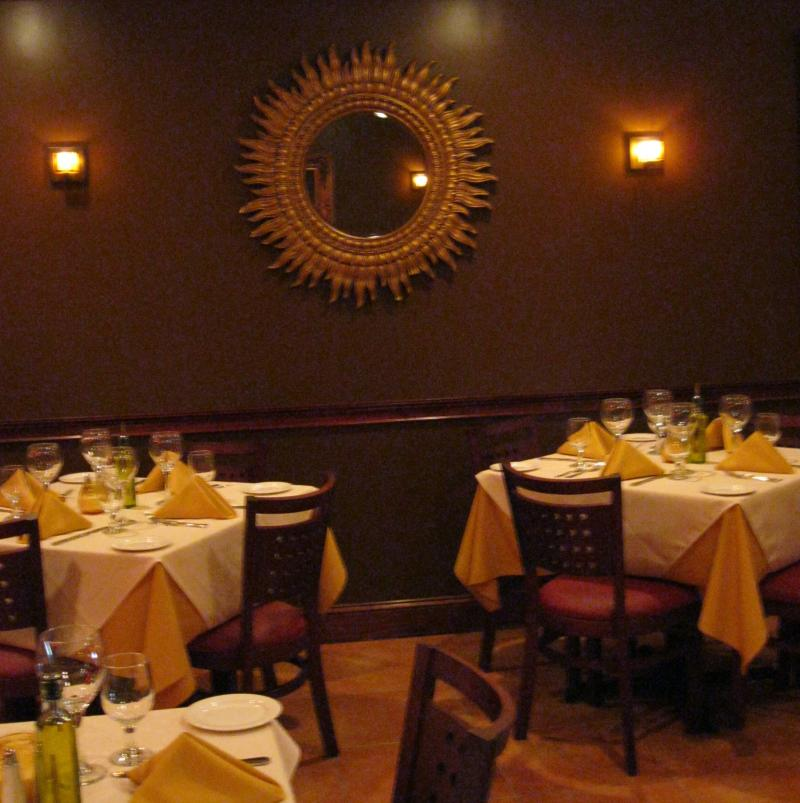 Sergio 39 s missione a b o u t u s for Best private dining rooms nj